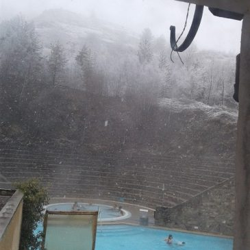 Samedi 24 mars: route normale, il neige doucement