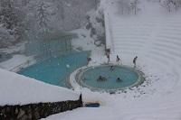 21 Janvier les bains sont bien ouverts malgré le mauvais temps….